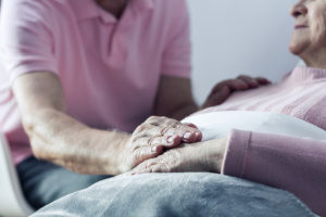 senior couple making the decision to not intubate for ill wife