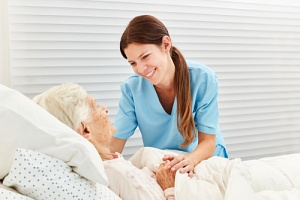 patient receiving hospice respite care