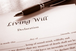 Living will declared by end of life patient