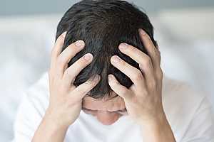 a man experiencing neurological issues due to HIV/AIDS