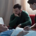 Elderly man in end of life care