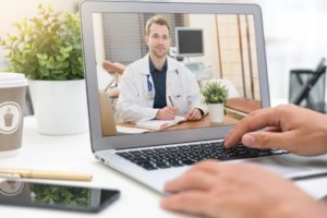due to covid-19 hospice care are done remotely by telehealth