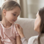 mom talking to her daughter about talking to children about death