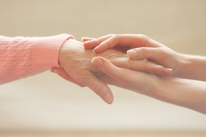 comforting someone in hospice with pain management in hospice