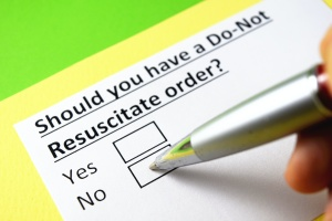paper asking if you have a Do Not Resuscitate Order