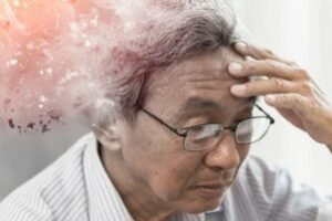 Old Man in hospice Losing Memory Due to Dementia